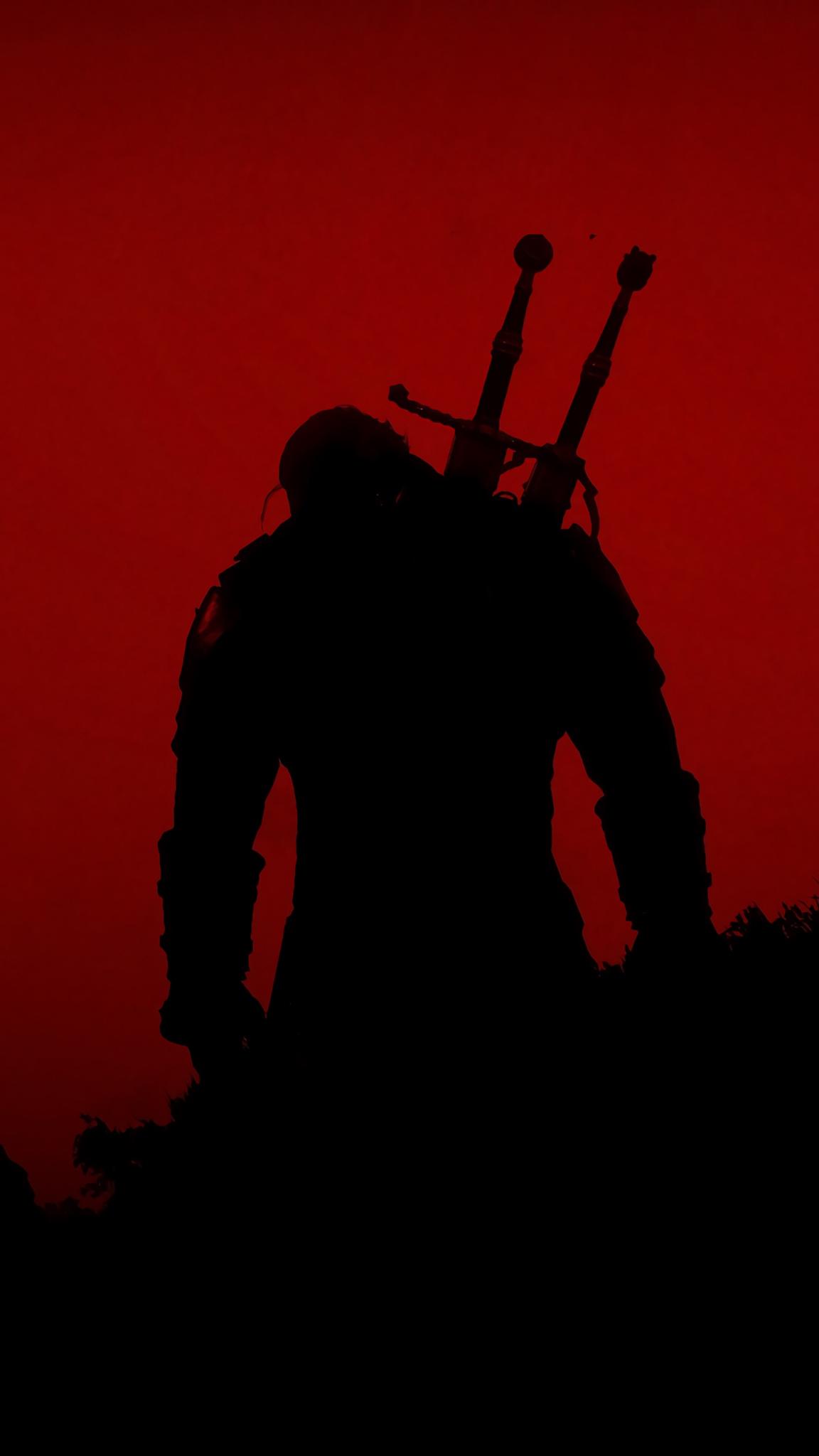 The Witcher iPhone wallpaper idownloadblog Geralt minimal