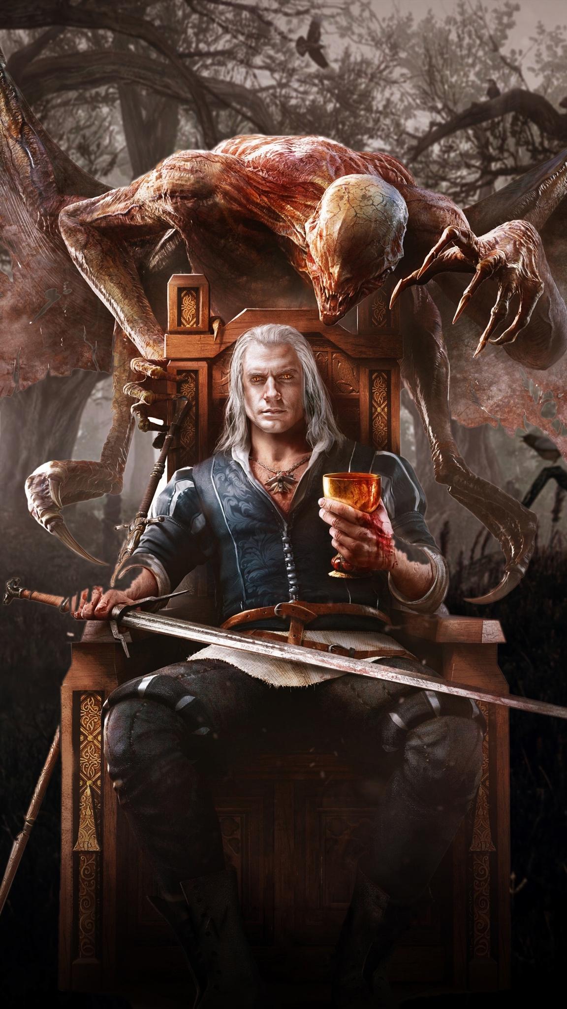 The Witcher iPhone wallpaper idownloadblog demon