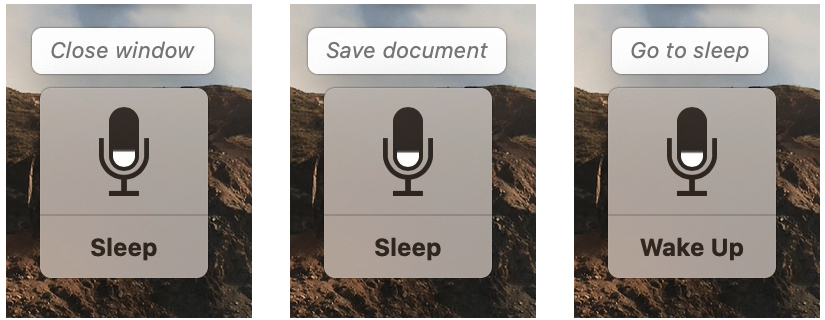 Voice Control Commands Displayed Mac