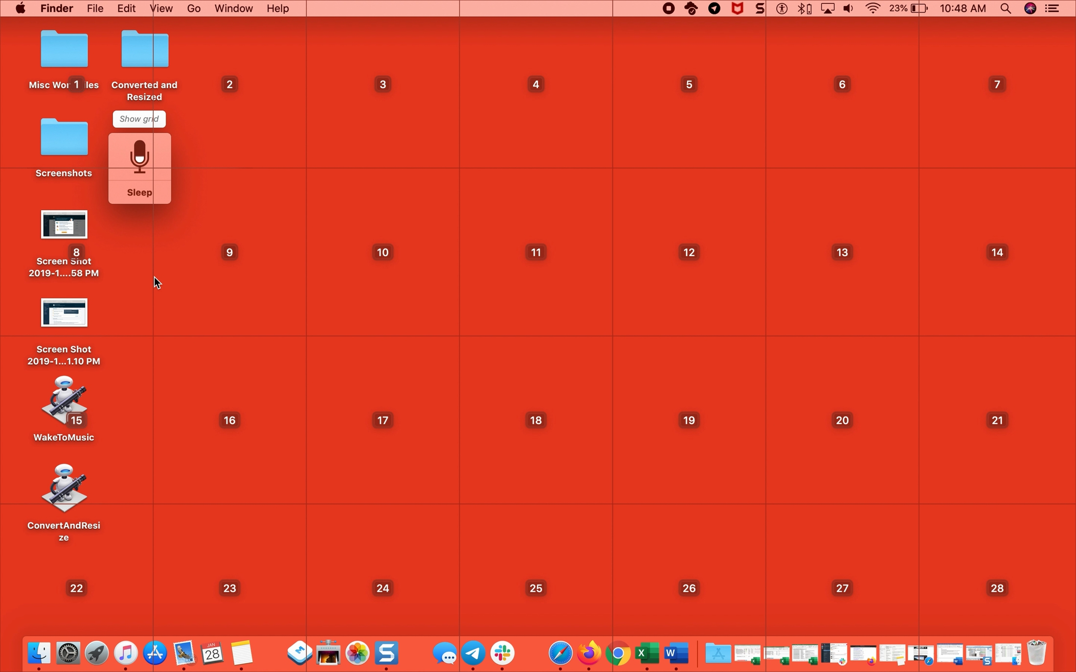 Voice Control Show Grid Mac