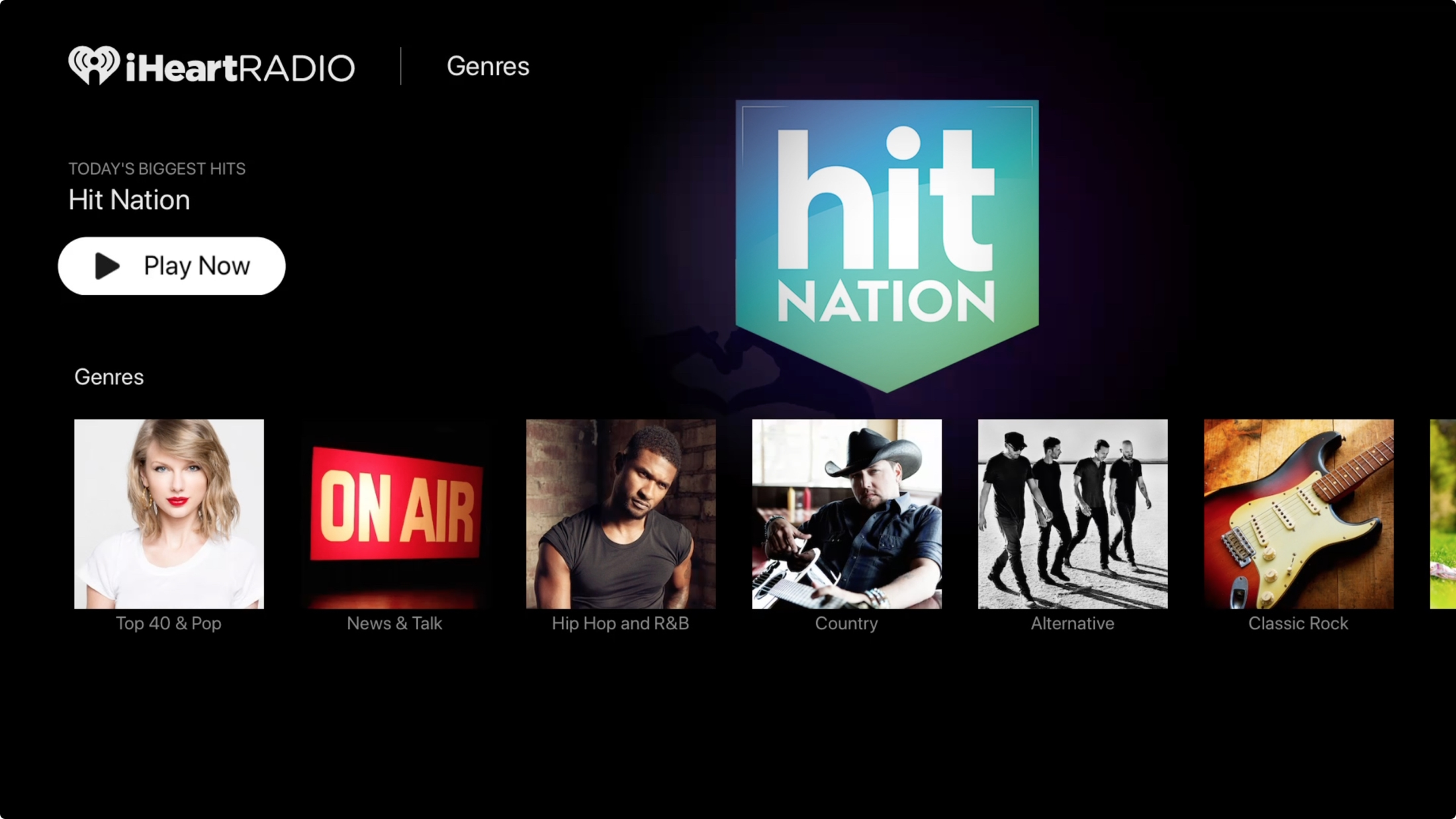 iHeartRadio en Apple TV