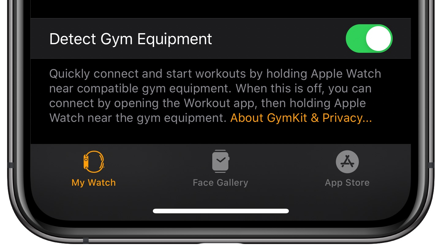 Apple Watch gym equipment
