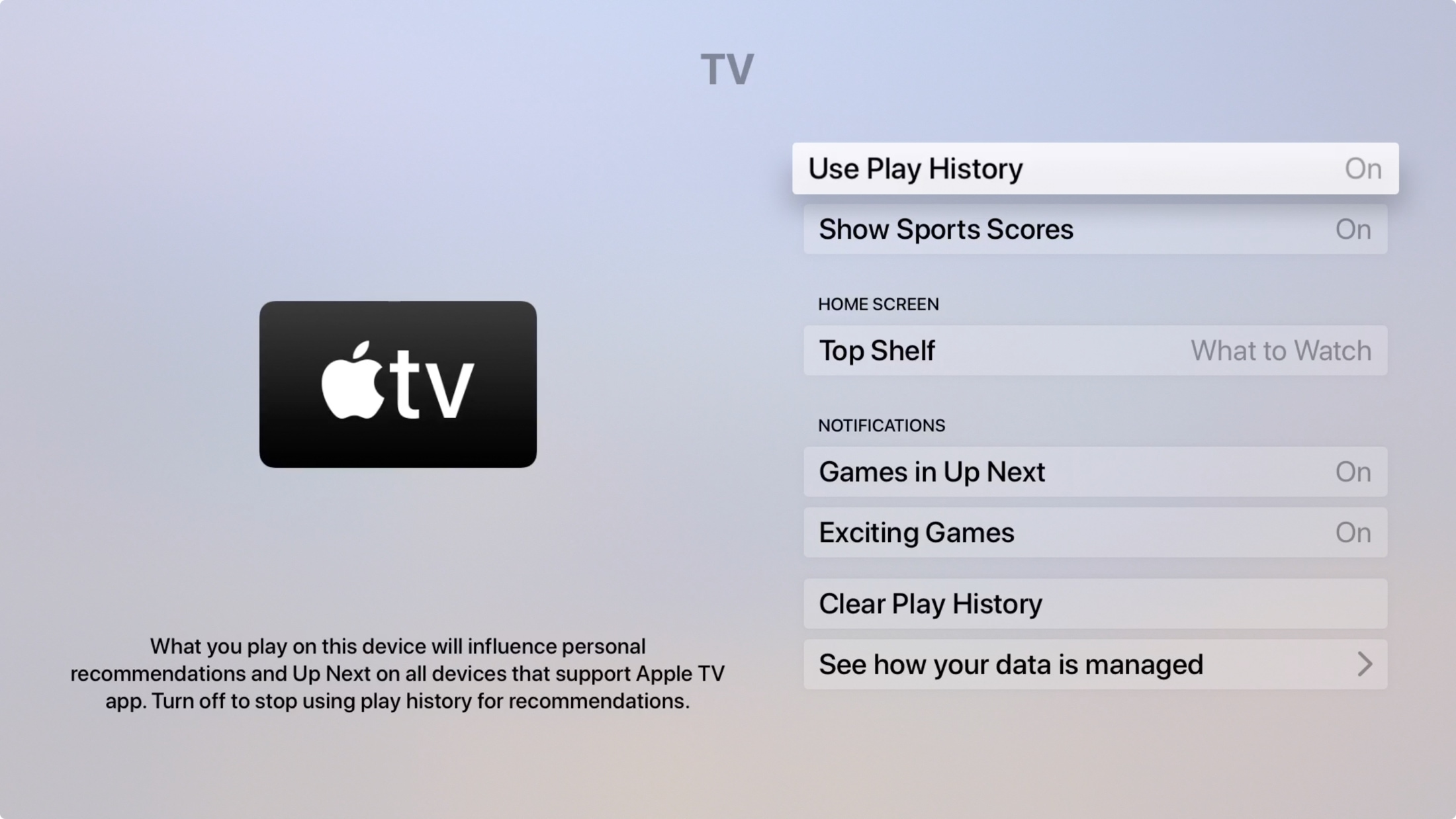Apple TV TV app