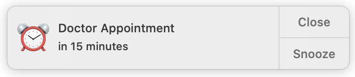 Calendar Event Alert on Mac
