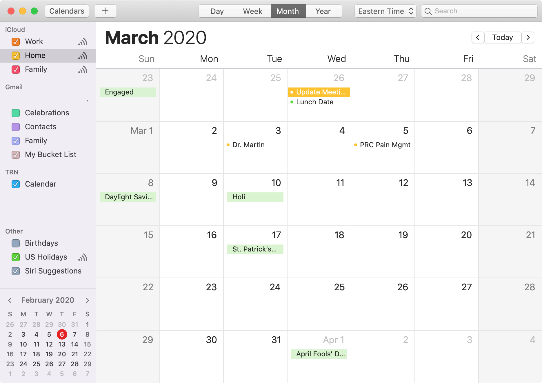Calendar Mac Month March