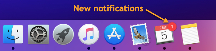 Calendar Mac Notifications Dock