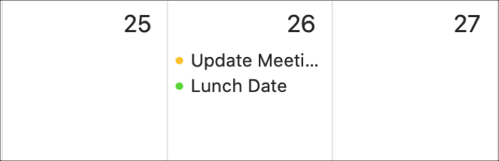 Calendar Mac Timed Events