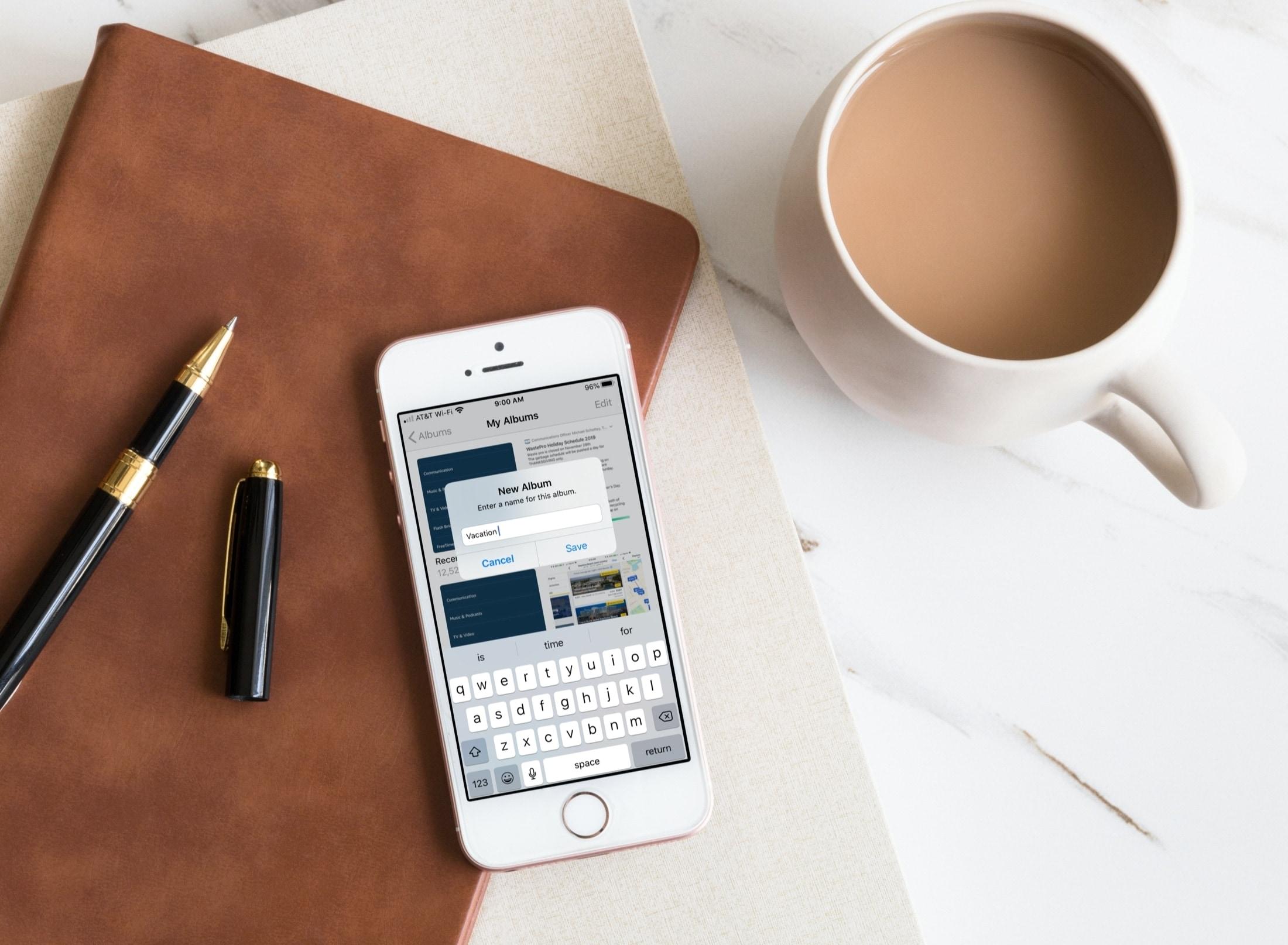 Create New Album in Photos iPhone