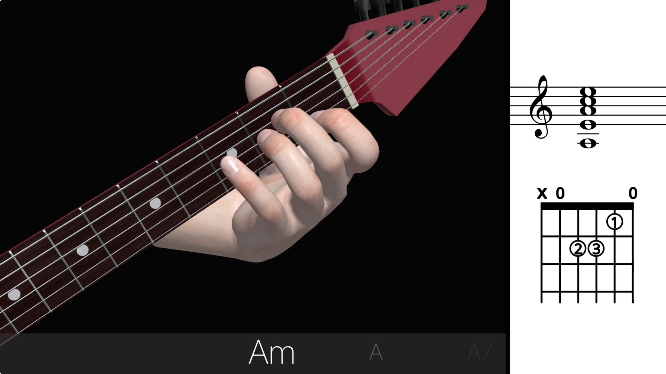 Guitar 3D Basic Chords Apple TV