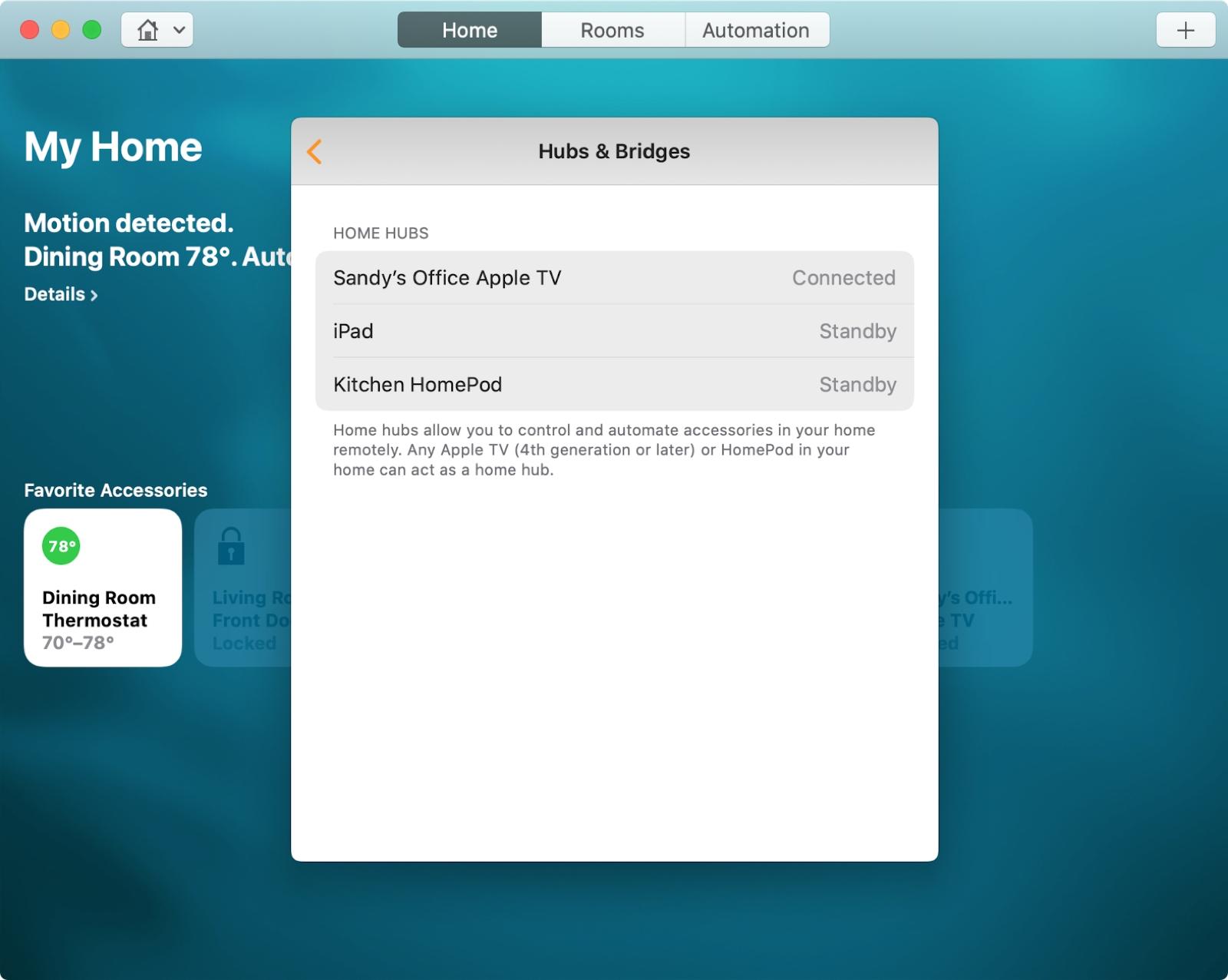 Home Hubs and Bridges Mac