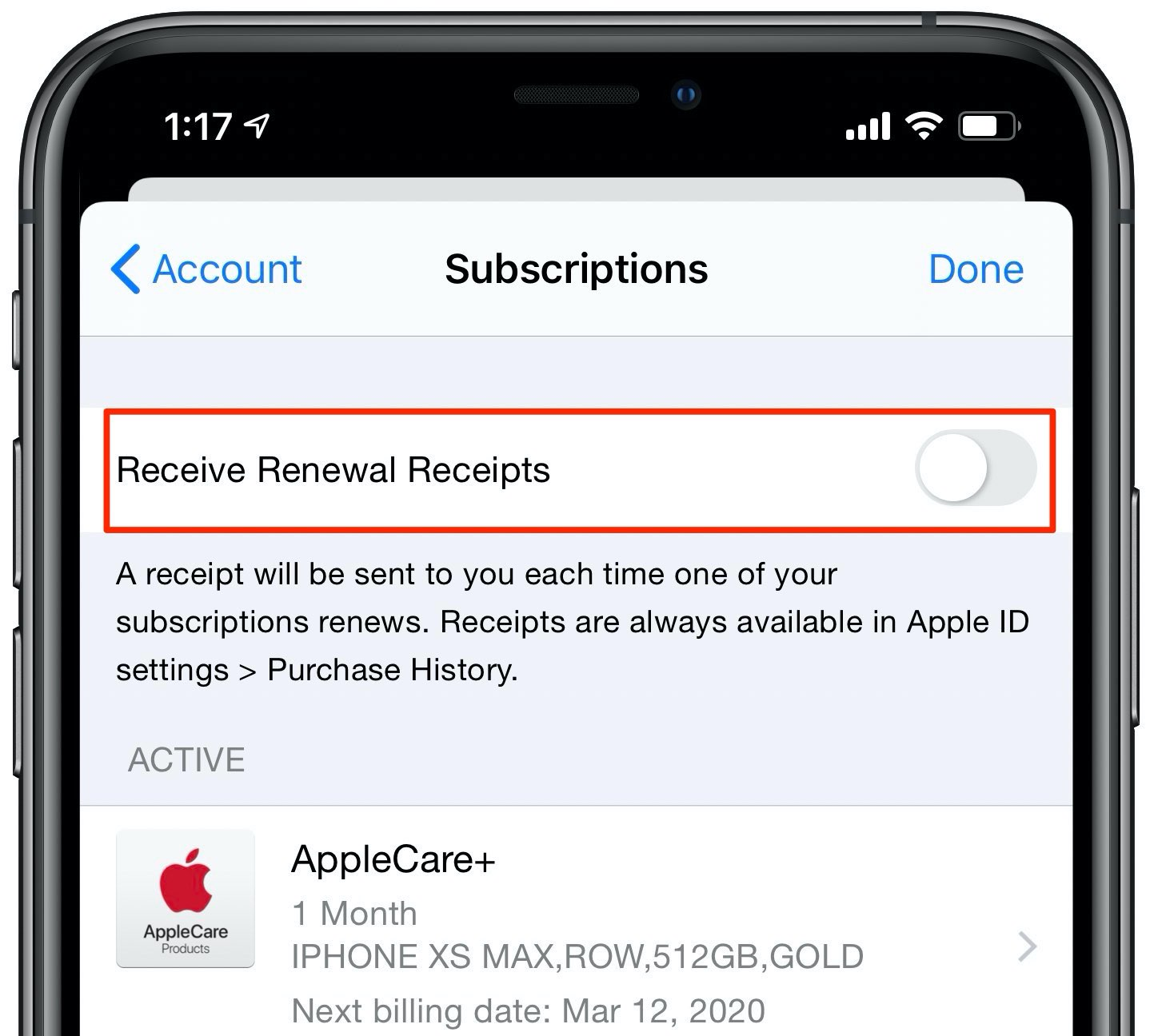 stop receiving Apple subscription renewal emails tutorial