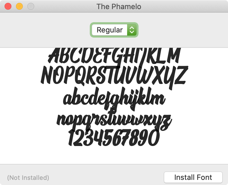 Install Font Mac - The Phamelo