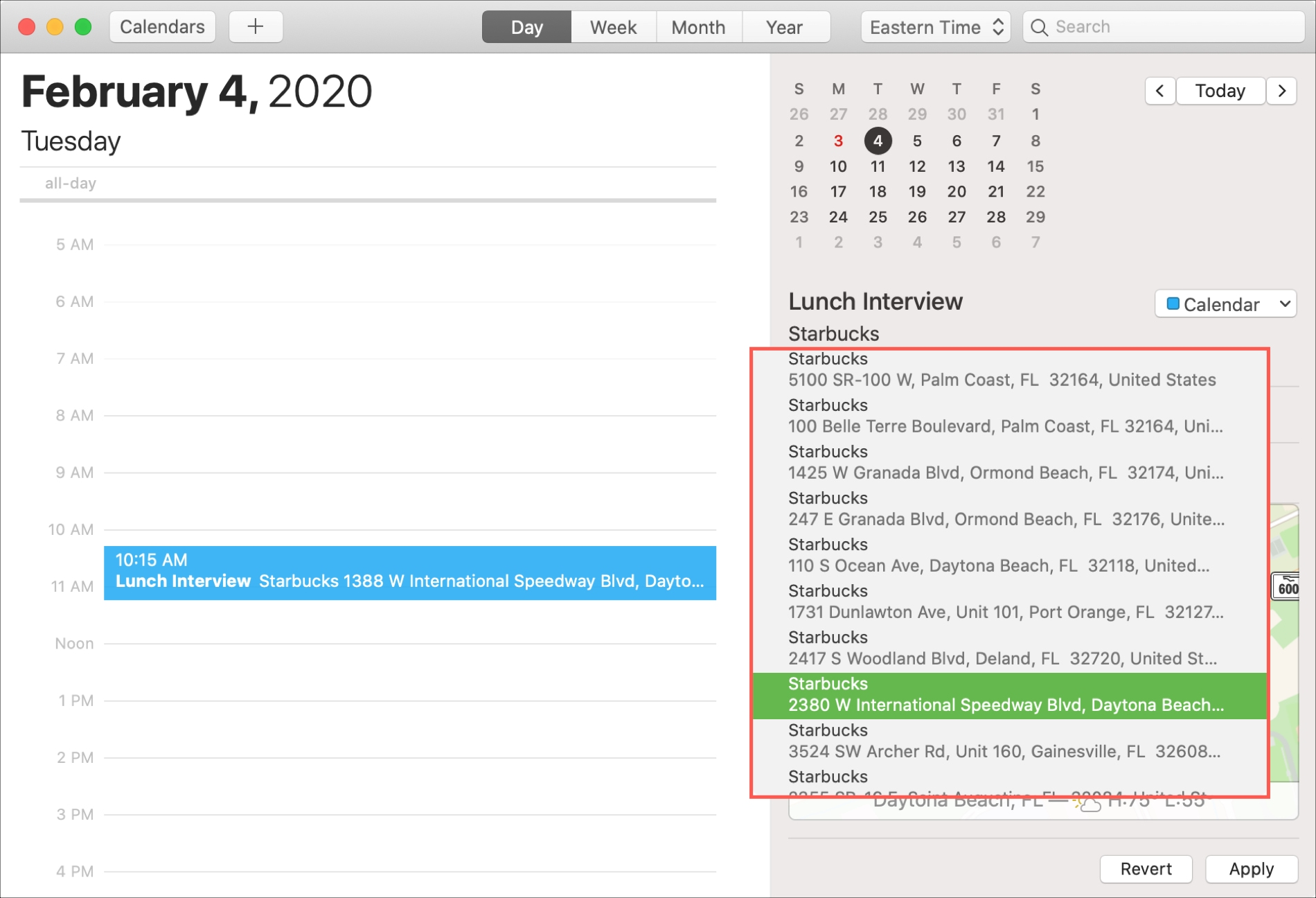 Mac Calendar Choose Location