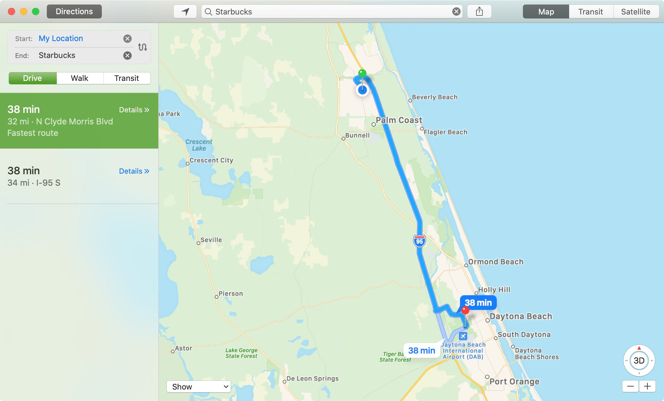 Mac Calendar Location in Maps