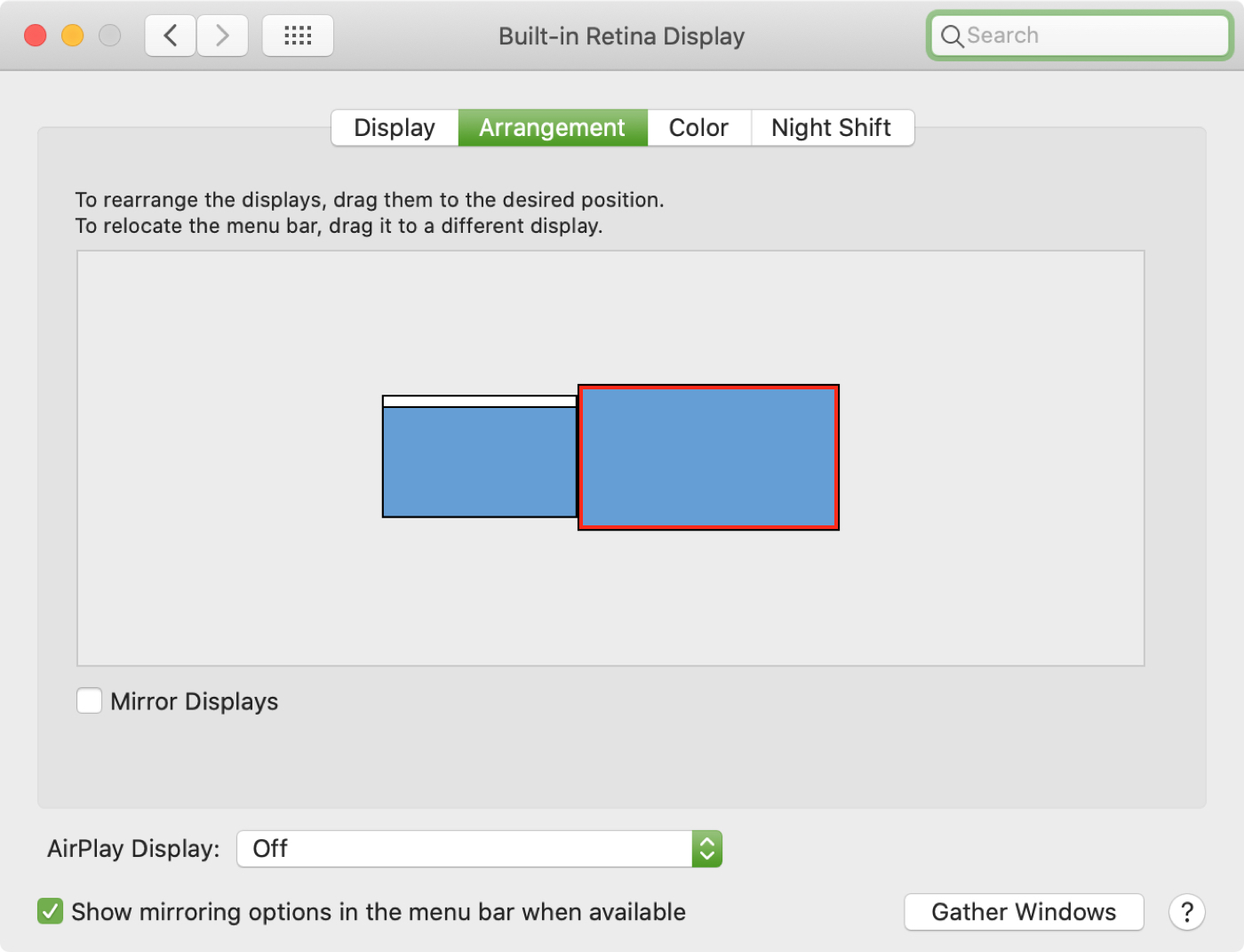Mac External Displays Arrangment