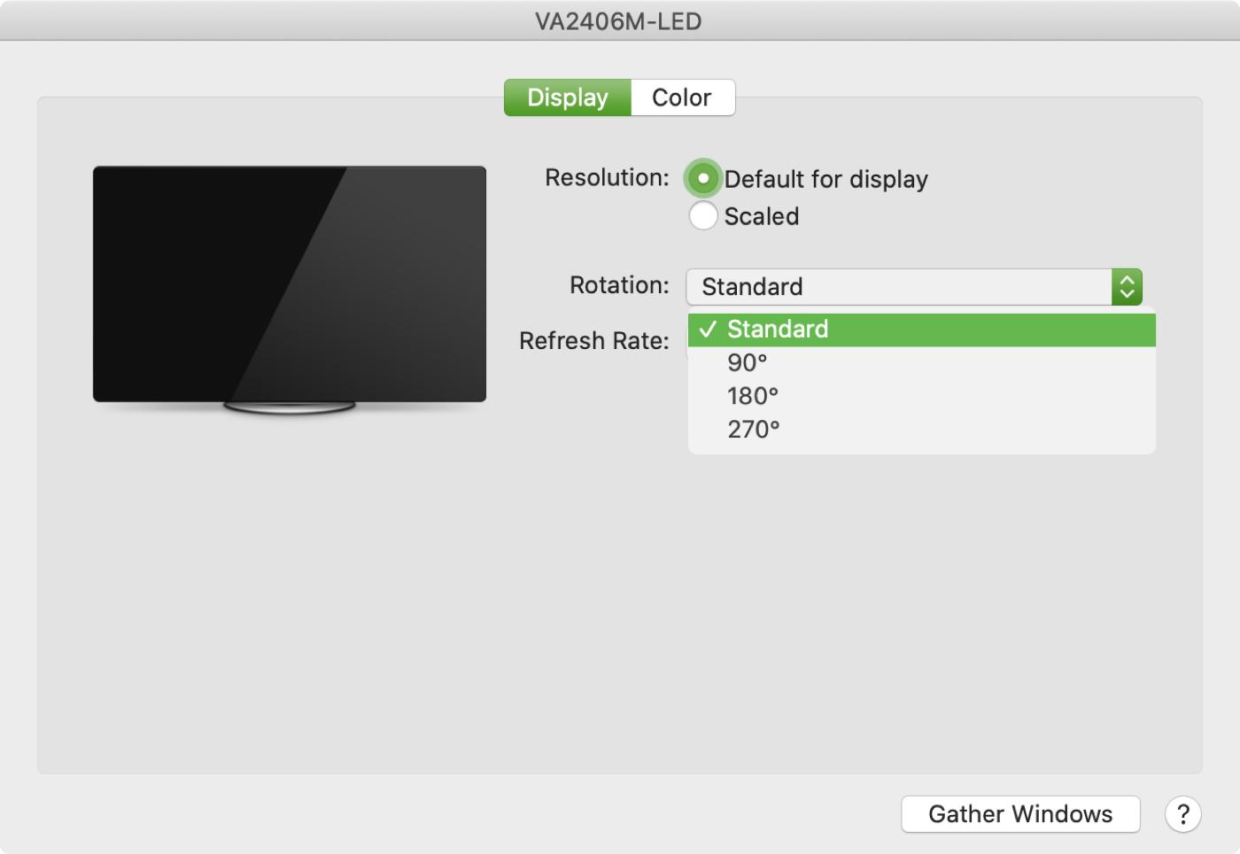 Mac External Displays Rotation