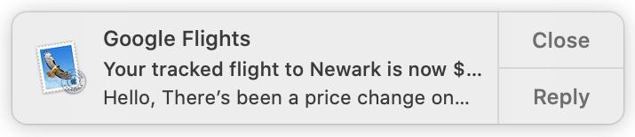 Mail Alert on Mac