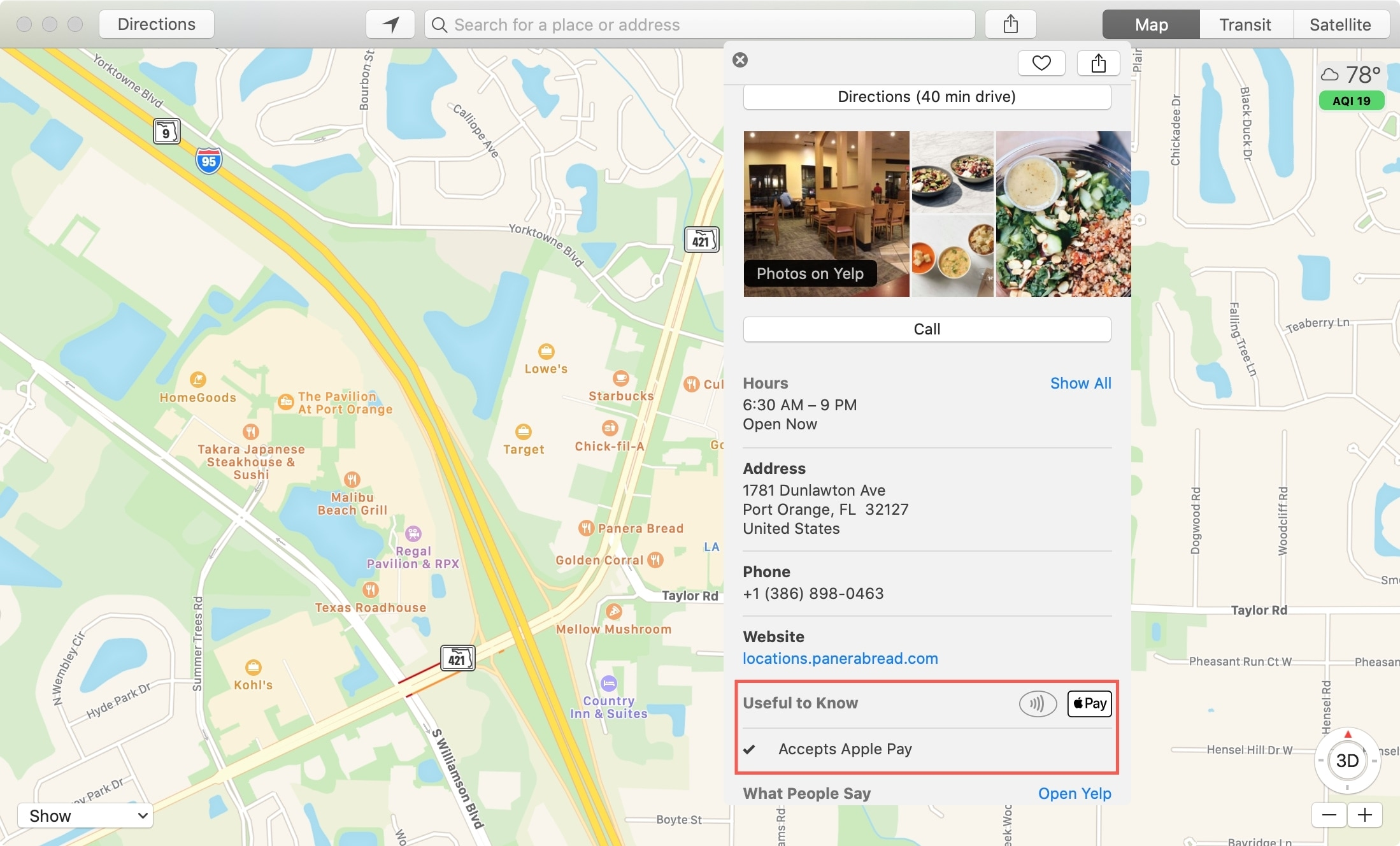 Maps Accepts Apple Pay Mac