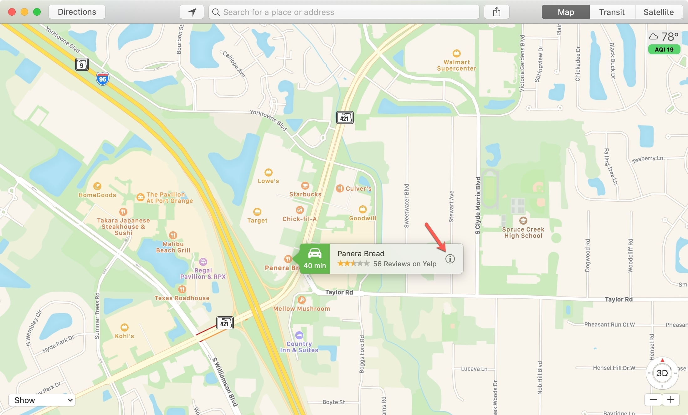 Maps Location Information Mac