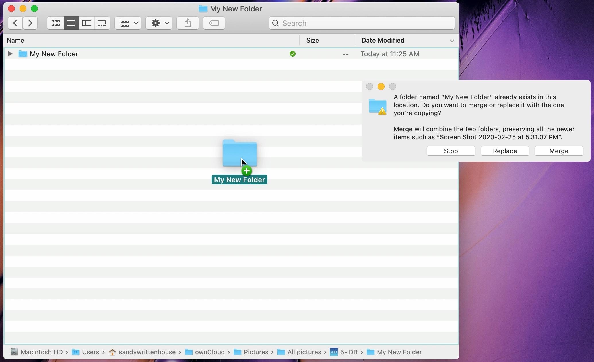 Merge Folders on Mac
