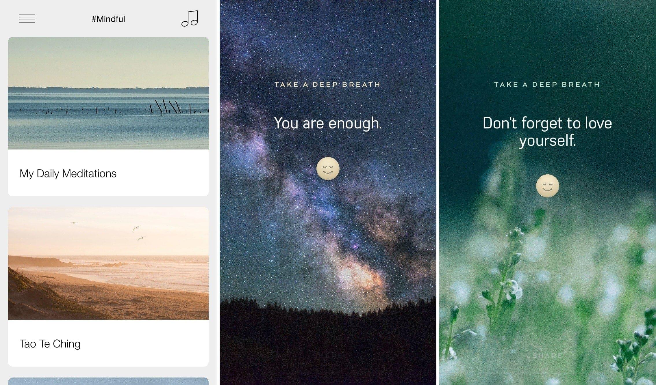 Mindful app iPhone
