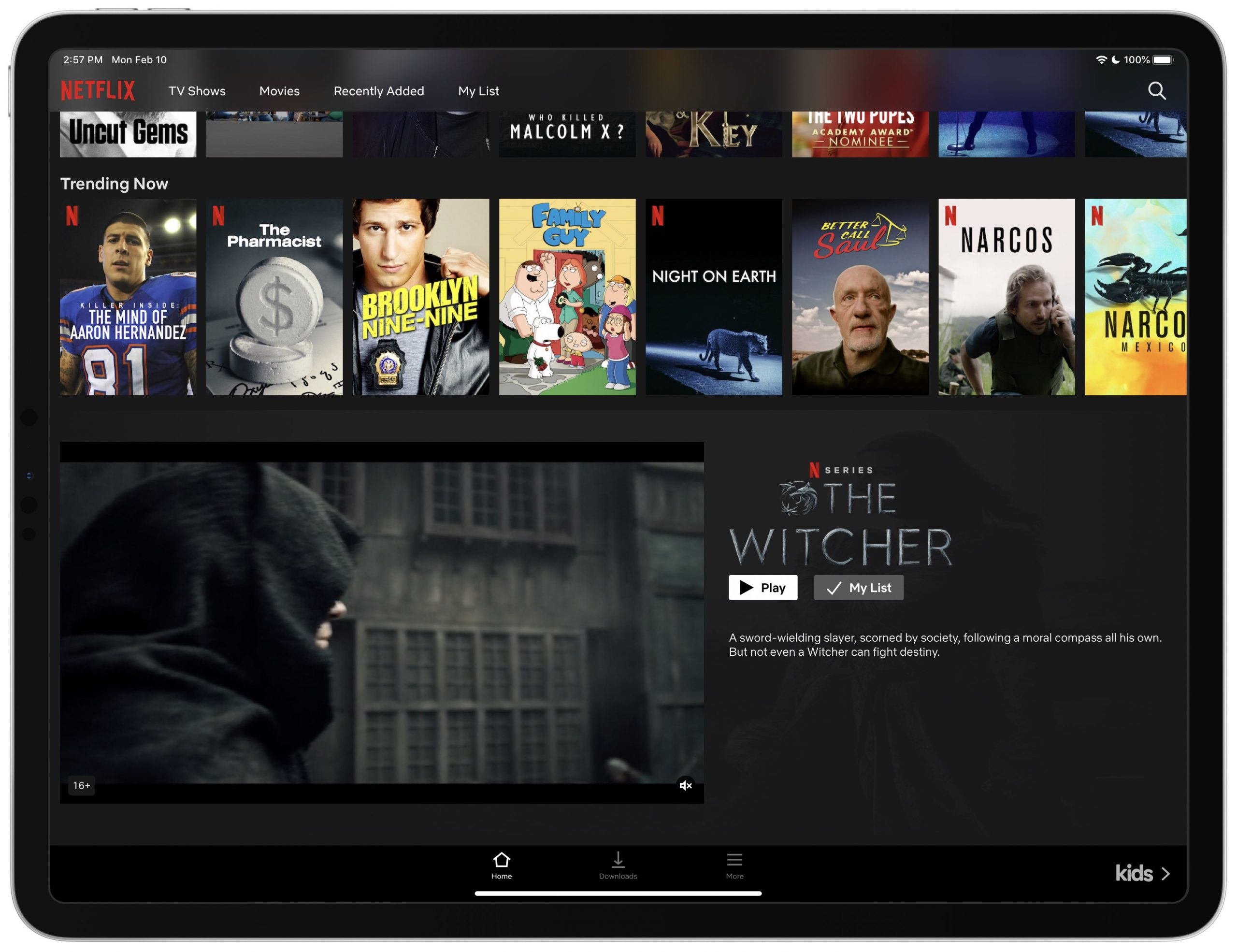 Netflix autoplay previews settings