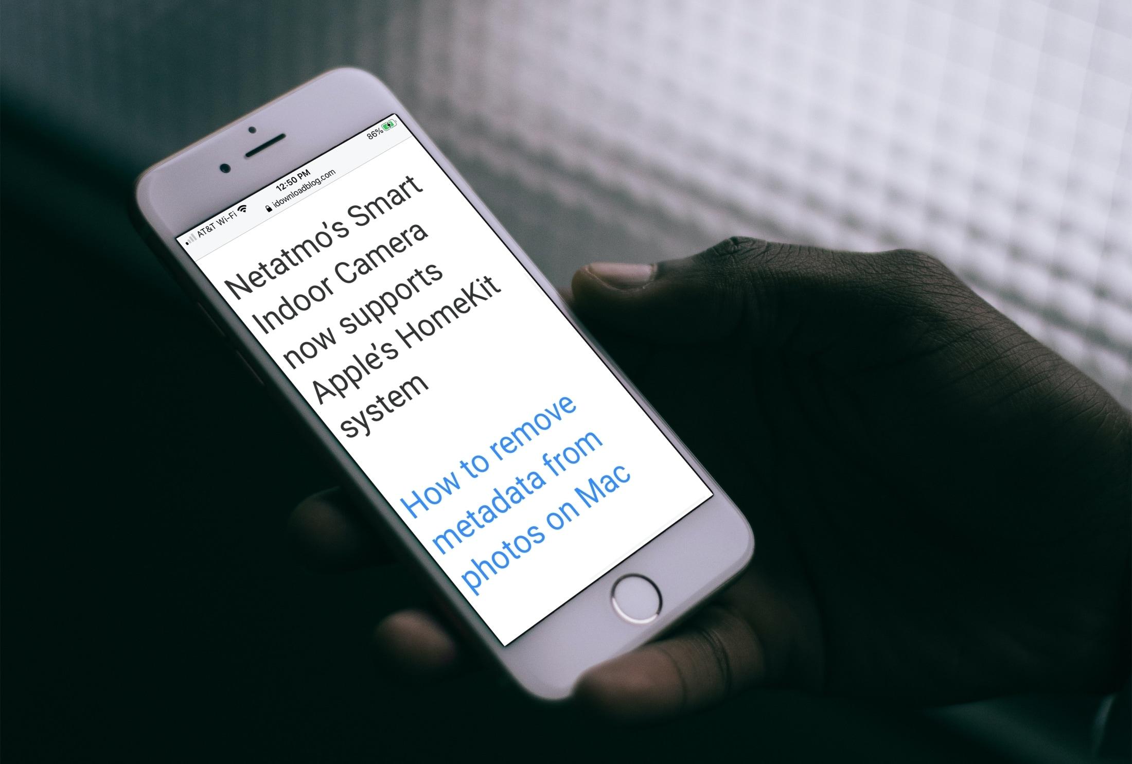 Safari zoom iPhone dark
