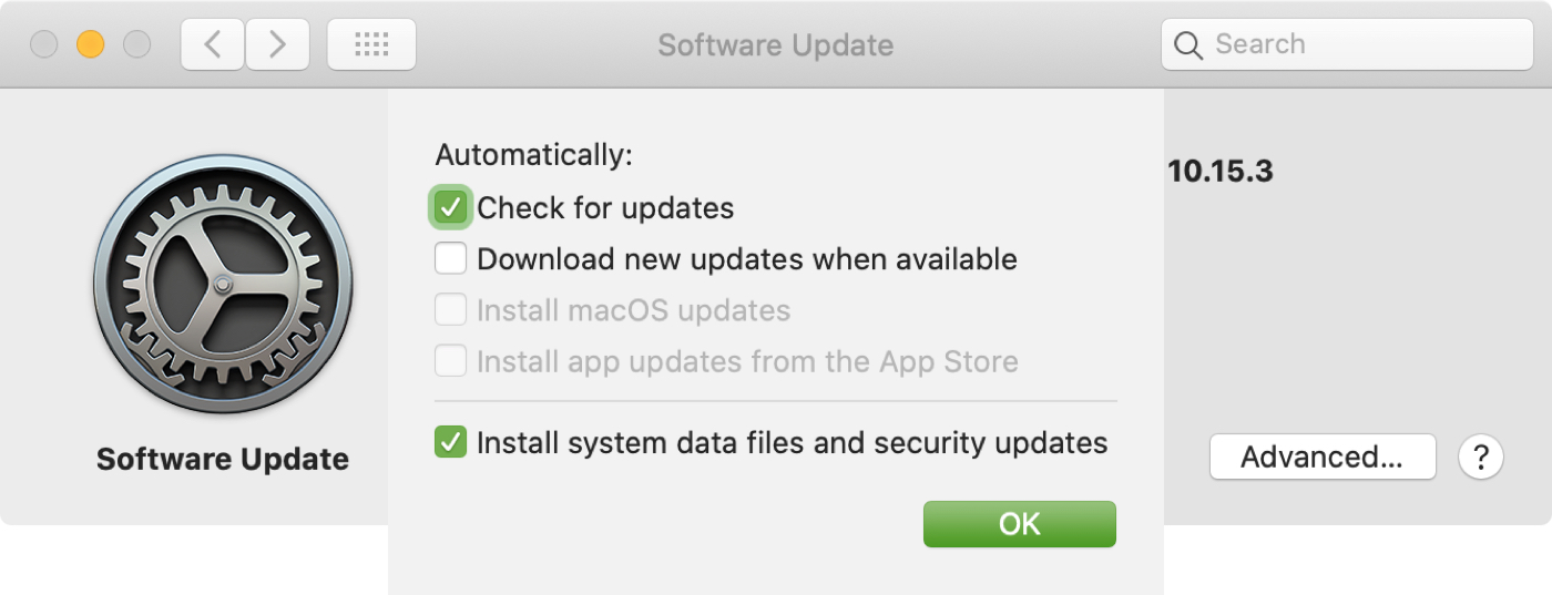 Software Update Check for Updates Only Mac