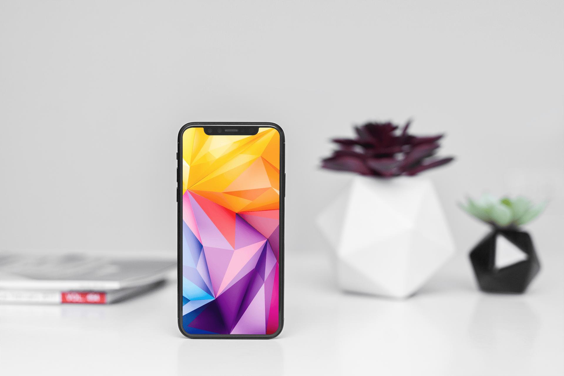 Abstract geometry wallpaper mockup image