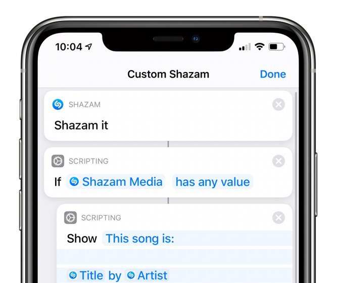 iOS 13.4 brings a new Shazam It action to the Shortcuts app for identifying nearby music