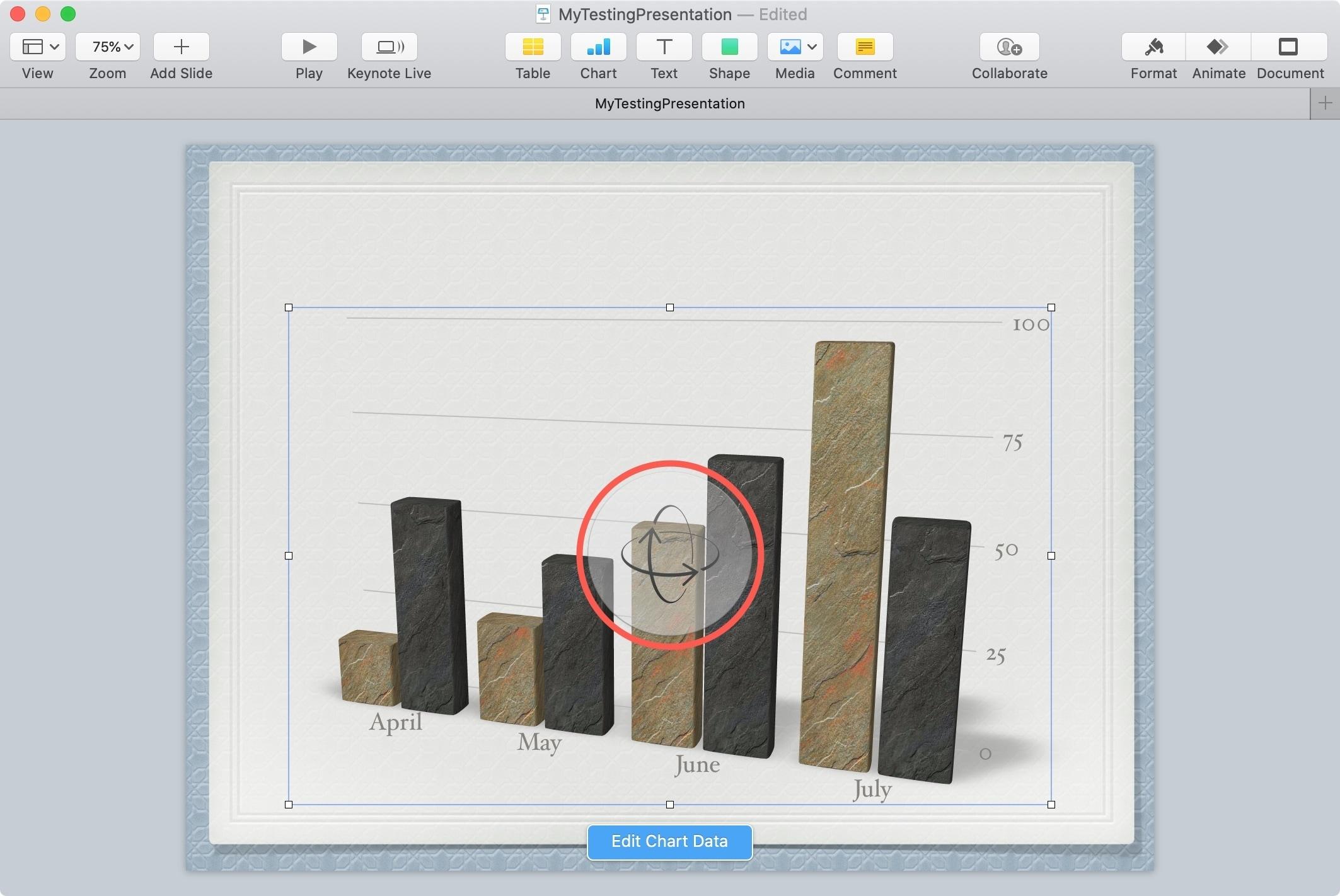 3D Chart Rotation Control Keynote Mac
