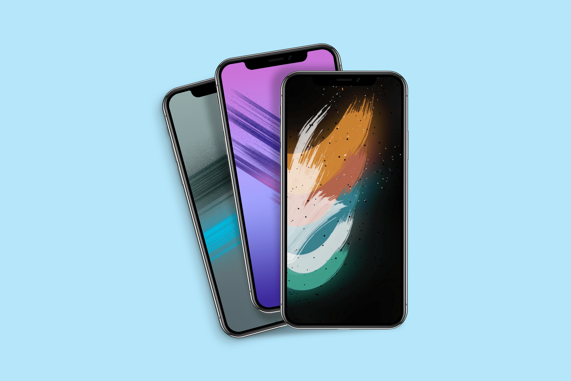 Abstract digital paint wallpapers iPhone alan140503 idownloadblog mockup