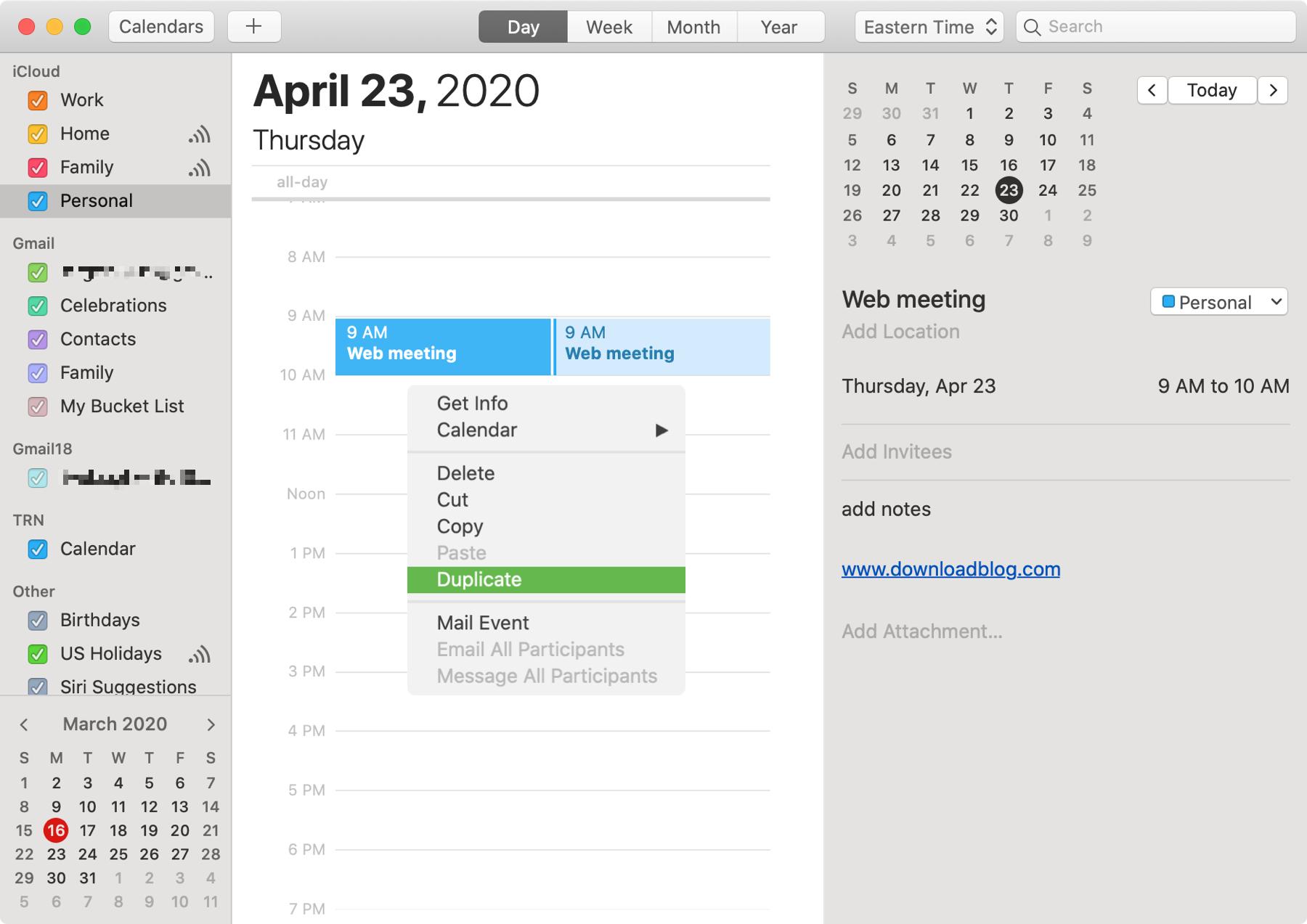 Calendar Duplicate Event Mac