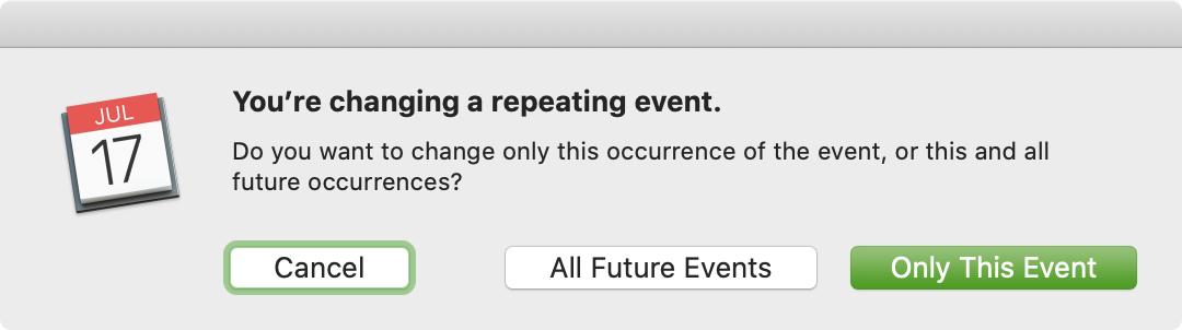 Calendar Mac Change Repeat Event