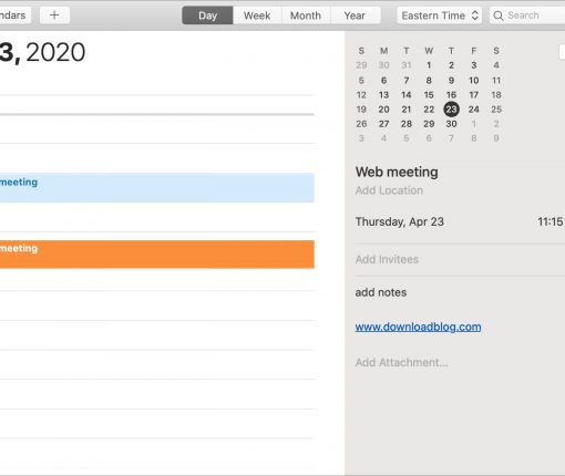 Calendar Move Copy Duplicate Event Mac
