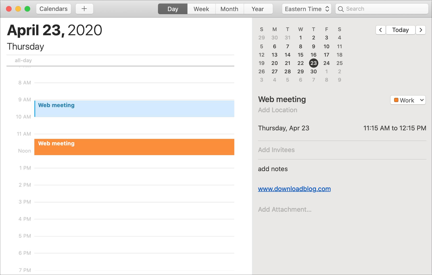 Calendar Move Copy Duplicate Event Mac