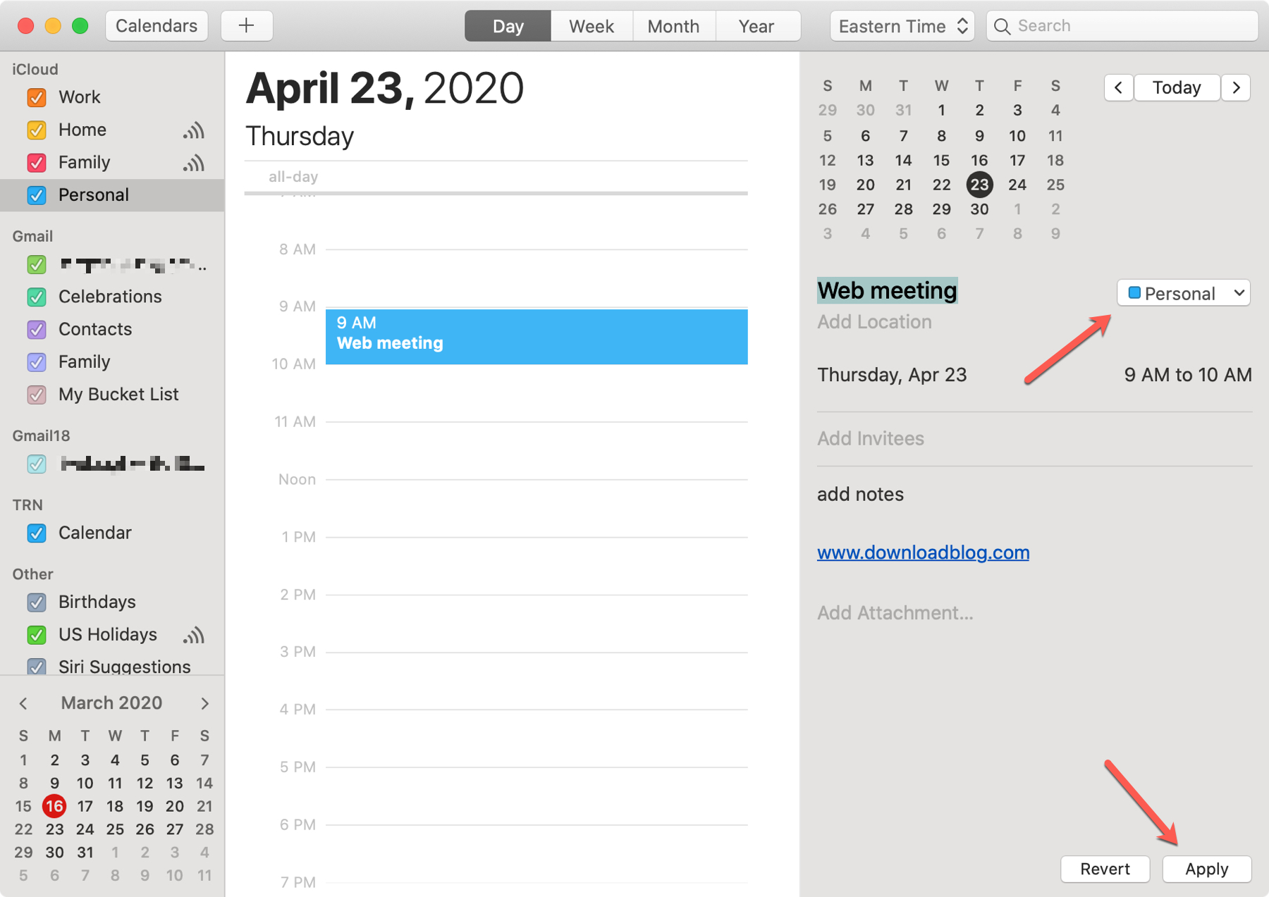 Calendar Move Event Mac