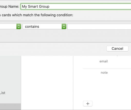 Create a Contacts Smart Group on Mac