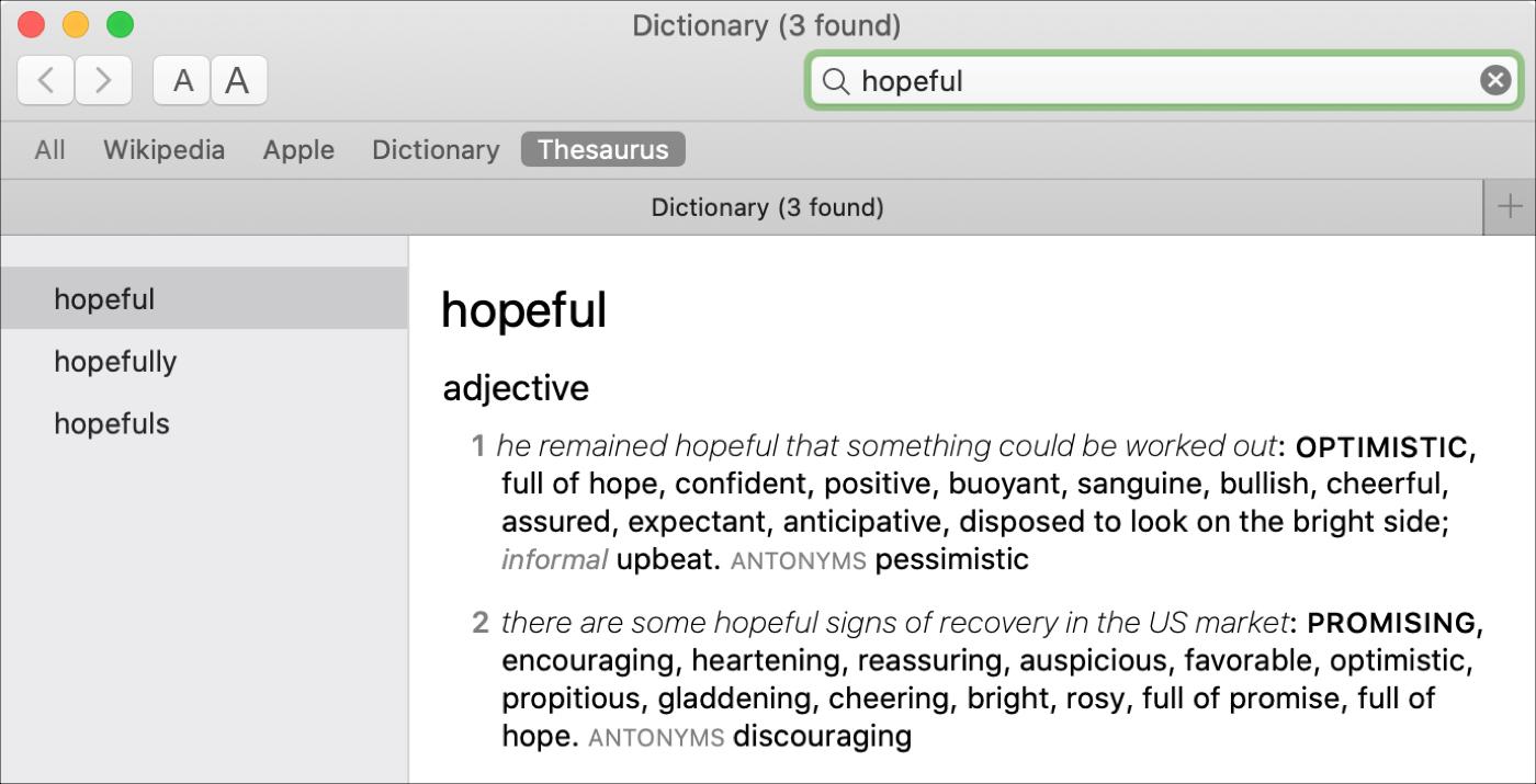 Dictionary App Thesaurus Mac