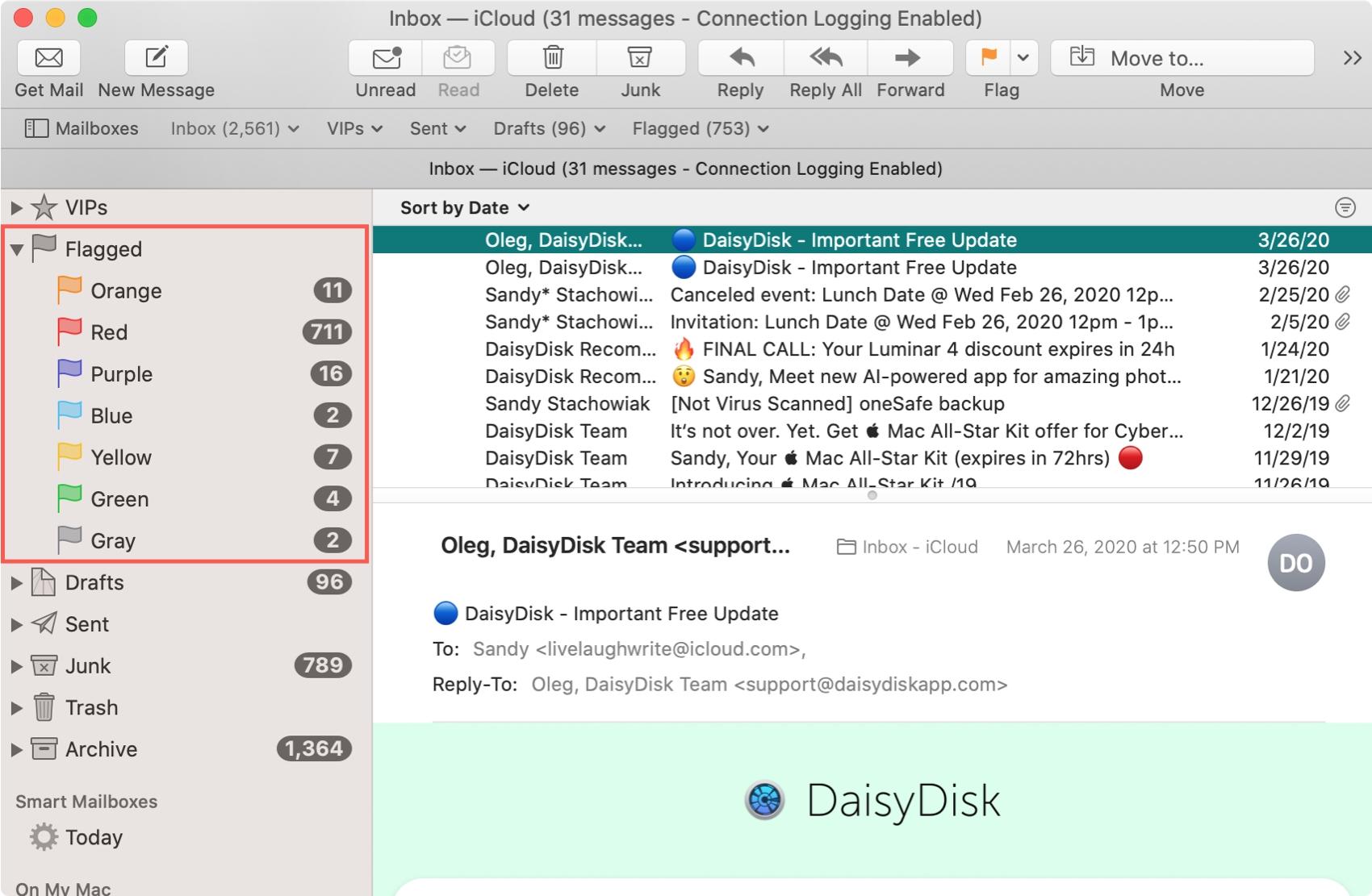 Flagged Mailbox Mac