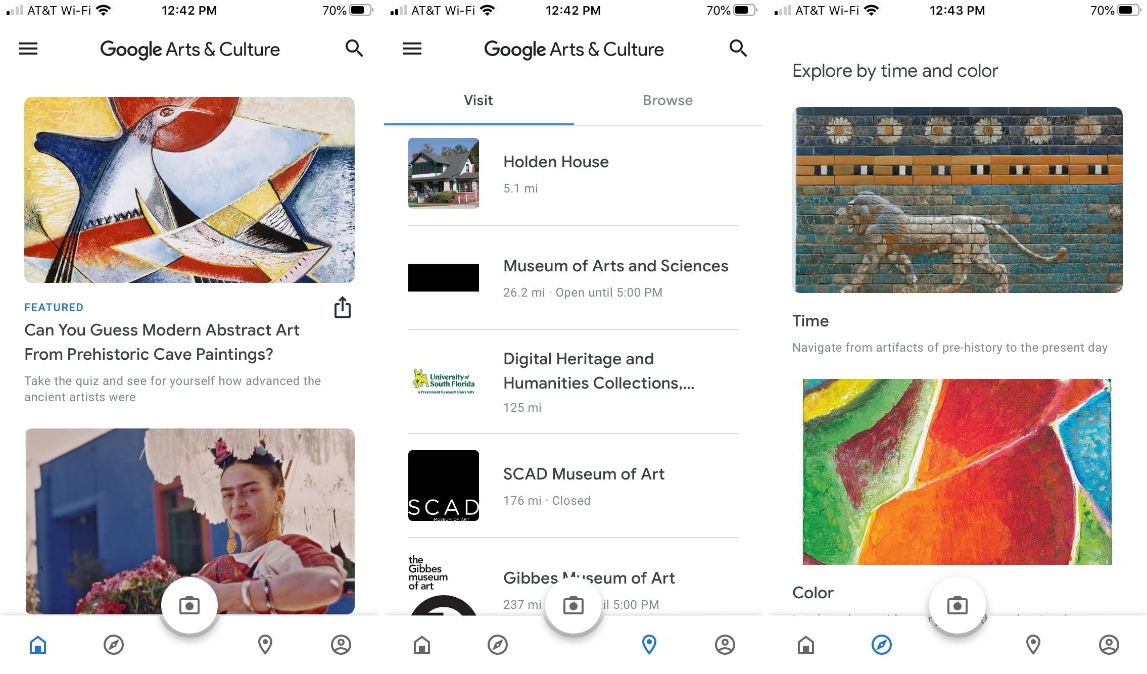 Google Arts and Culture en iPhone
