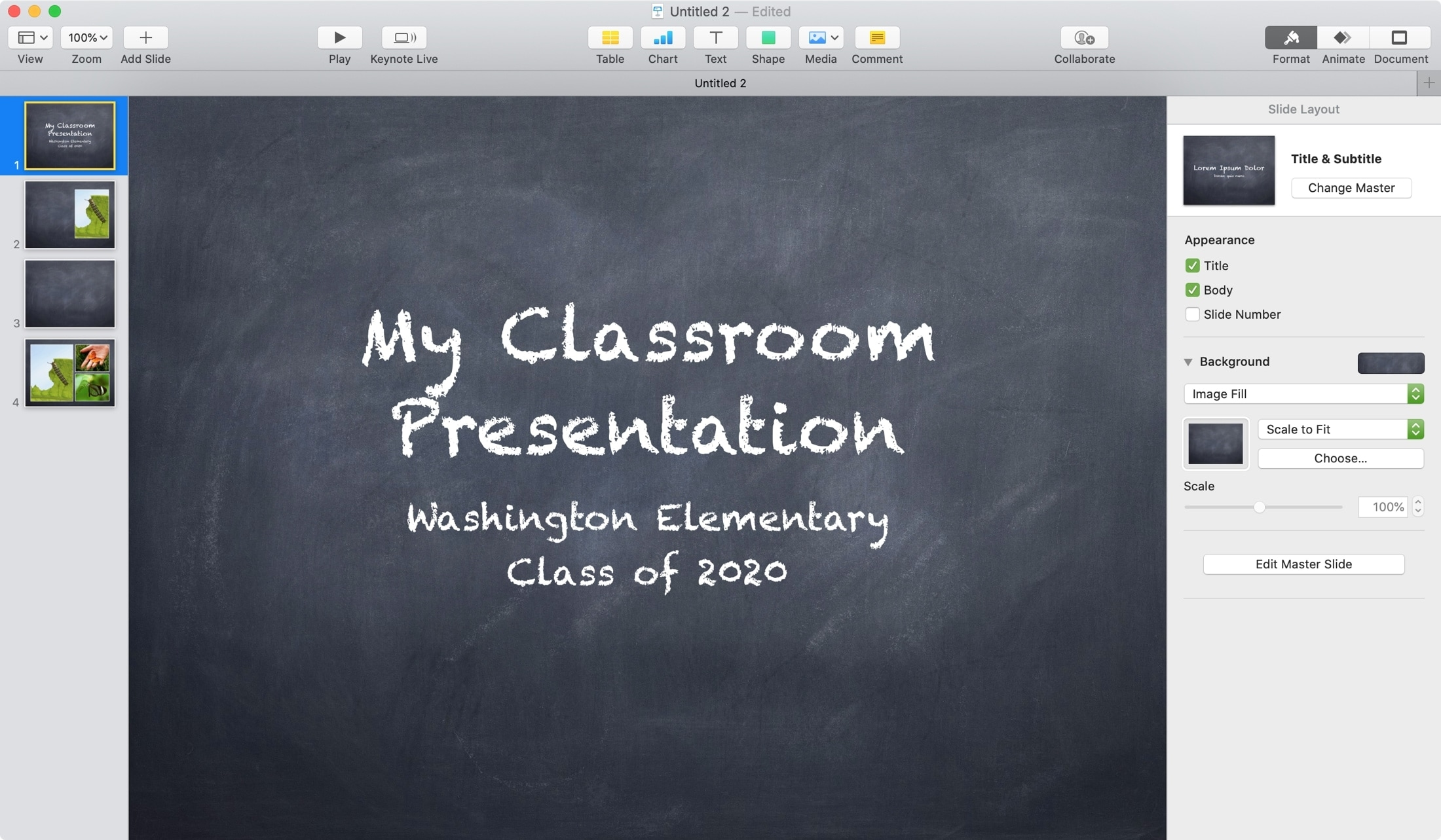 Keynote Chalkboard Theme Mac