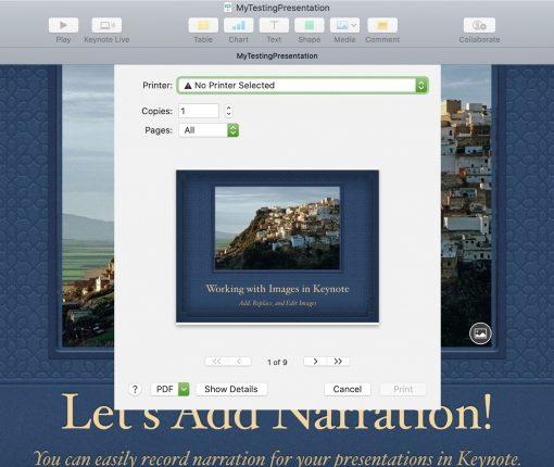 Keynote Print Presentation Mac