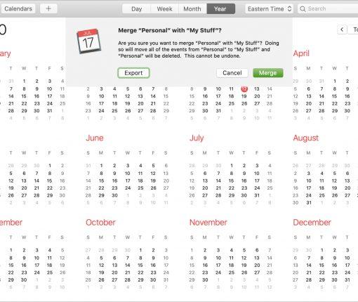 Merge iCloud Calendars on Mac