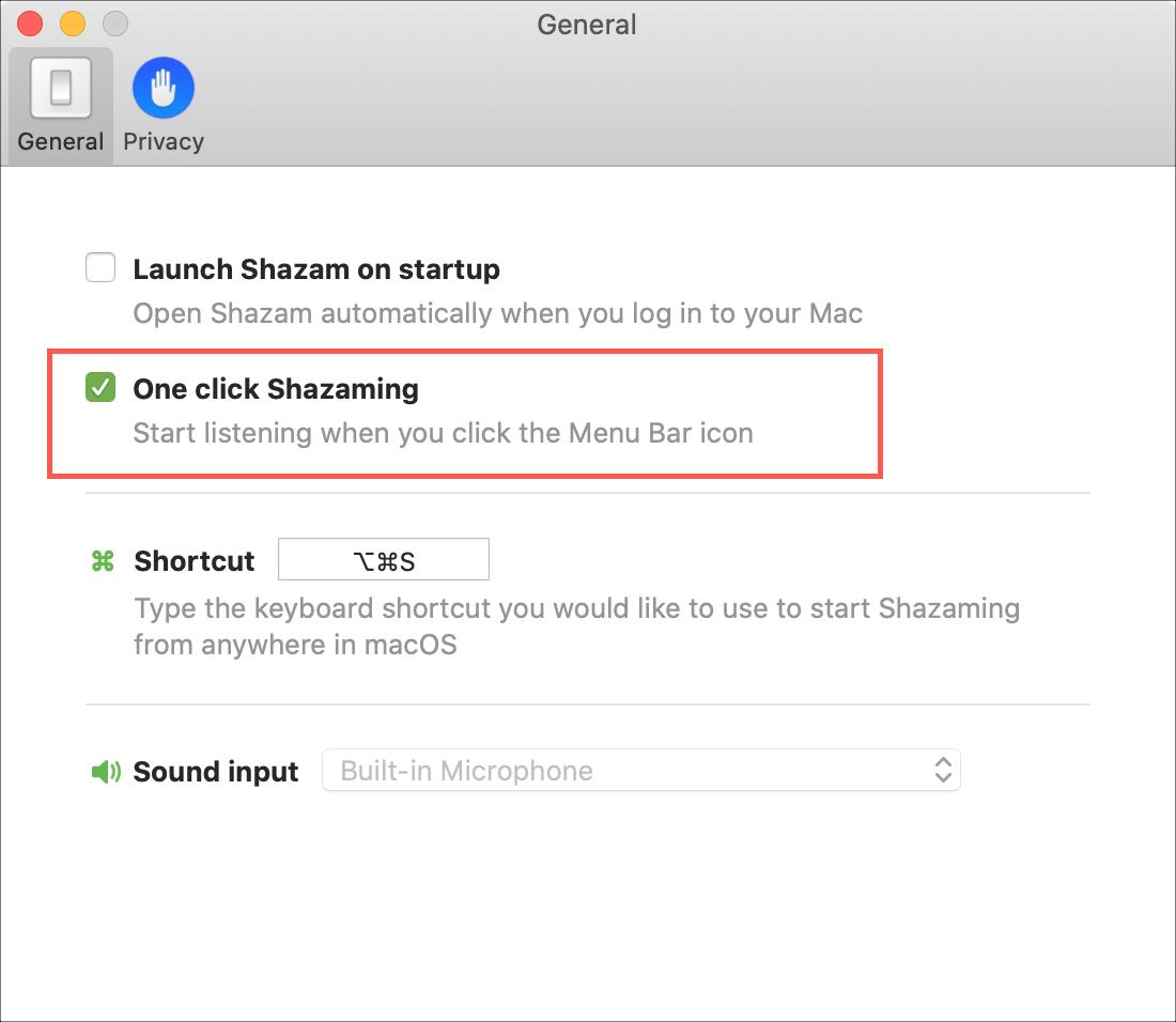 One click Shazaming on Mac