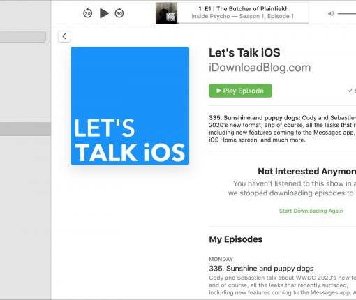 Podcast Lets Talk iOS Mac