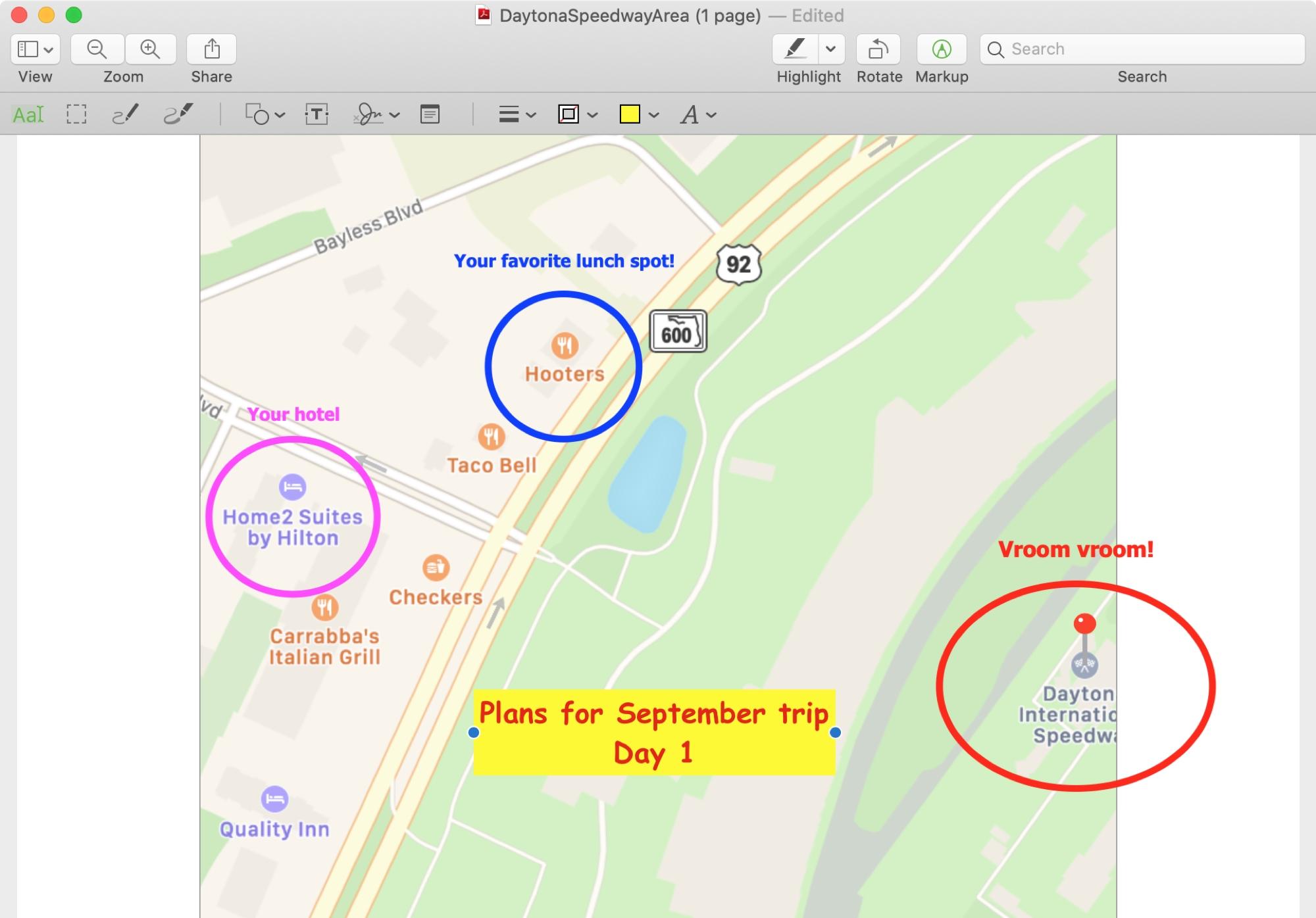 Kuinka luoda ja merkitä PDF-tiedosto Mapsista Macissa