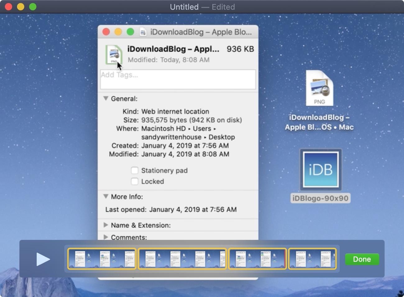QuickTime Split Clips Mac