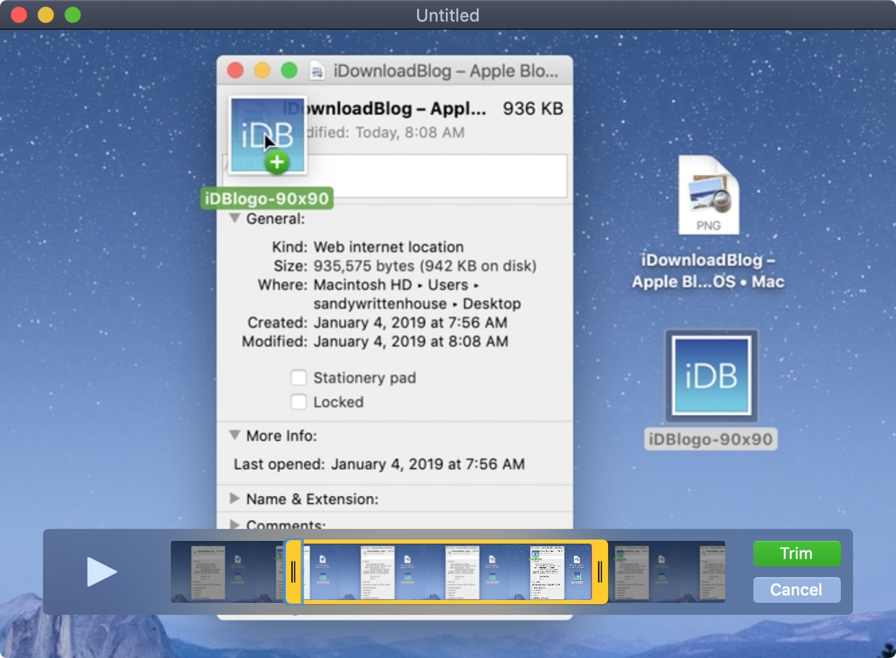 QuickTime Trim Movie Mac