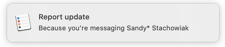 Reminders Notification Messages Mac